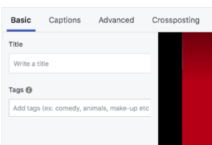 facebook cover video seo settings