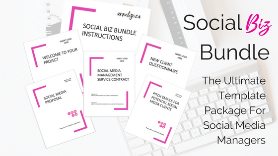 Social Biz Bundle social media proposal template, social media contract template