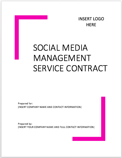 social biz bundle - social media contract templates