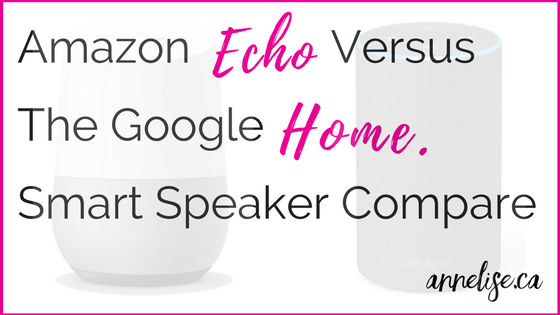 amazon echo versus the Google Home Smart Speaker System