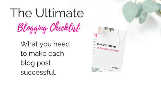 ultimate blogging checklist