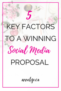 5 key factors to a winning social media proposal