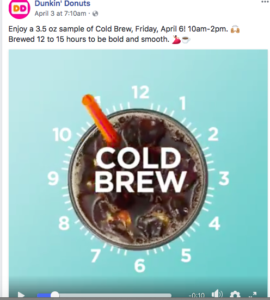 dunkin donuts social media strategy for restaurants