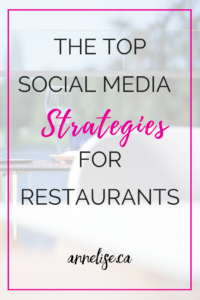 social media strategies for restaurants