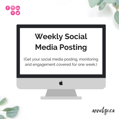 weekly social media management