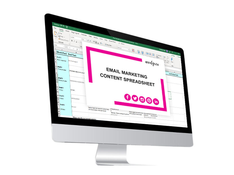 email marketing content planning sheet