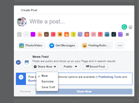 schedule Facebook posts Creator Studio Facebook scheduler not working